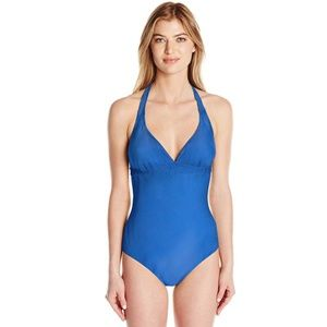 prAna Island Blue Lahari One Piece Swimsuit